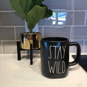 Rae Dunn NWT STAY WILD Black Ceramic Mug